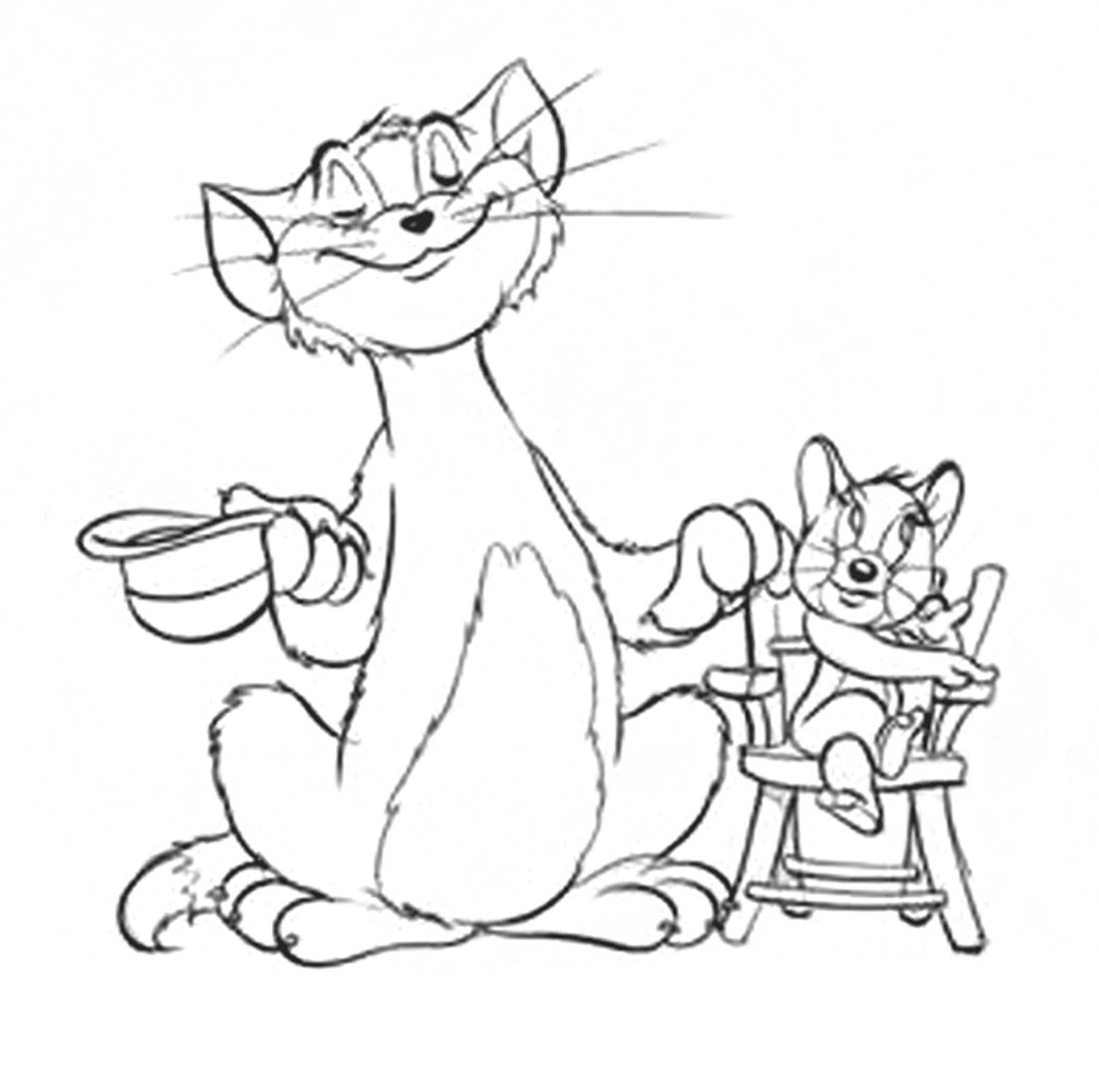 The tom and jerry online an unofficial site printable coloring pages