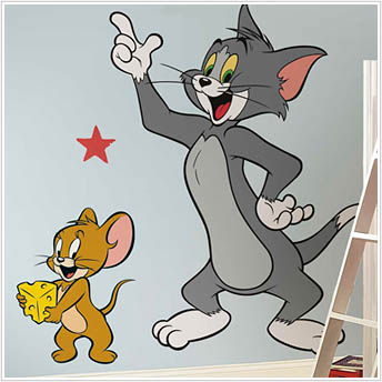 Tom and Jerry Giant Wall Sticker